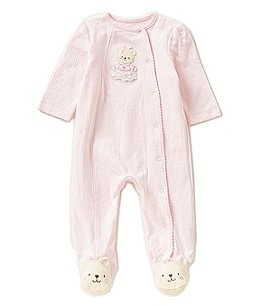 Image of Little Me Baby Girls Preemie-12 Months Sweet Bear Footed Coverall