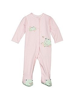 Image of Little Me Baby Girls Preemie-9 Months Sweet Frogs Footie Set