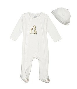 Image of Little Me Baby Girls/Boys Preemie-9 Months Giraffe Footie Set