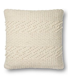 Image of Magnolia Home by Joanna Gaines Renee Basketweave Square Feather Pillow