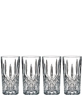 Image of Marquis by Waterford Markham 4-Piece Traditional Crystal Highball Glass Set