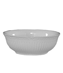 Image of Mikasa Italian Countryside Ridged Floral Stoneware Cereal Bowl