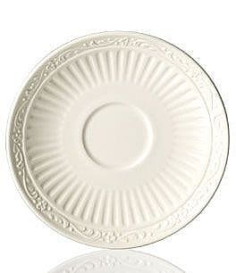 Image of Mikasa Italian Countryside Ridged Floral Stoneware Saucer