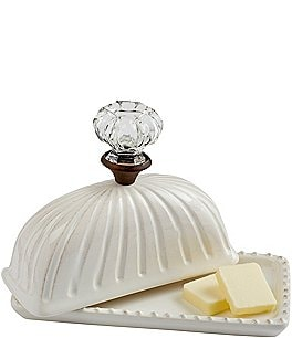 Image of Mud Pie Circa Door Knob Covered Butter Dish