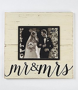 Image of Mud Pie Wedding Collection Mr. & Mrs. Deluxe Frame
