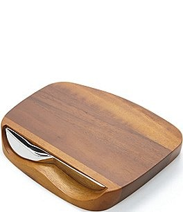 Image of Nambe Blend Acacia Wood Bar Board with Knife