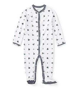 Image of Ralph Lauren Childrenswear Baby Boys Newborn Bear Printed Footed Coverall