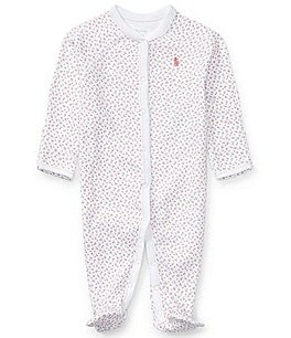 Image of Ralph Lauren Childrenswear Baby Girls Newborn-9 Months Dainty Floral Printed Footed Coverall