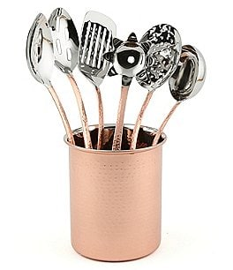 Image of Southern Living 7-Piece Hammered Stainless Steel Kitchen Utensil Set