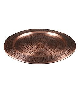 Image of Southern Living Modern Metals Collection Antique Hammered Copper Charger
