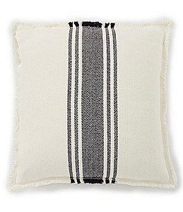 Image of Southern Living Cozy Winter Collection Striped Feedsack Square Pillow