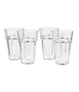 Image of Southern Living Lace Clear Highball Glasses Set of 4
