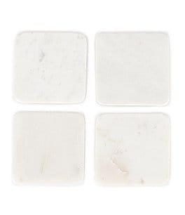 Image of Southern Living 4-Piece Marble Coaster Set