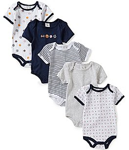 Image of Starting Out Baby Boys Newborn-6 Months 5-Pack Sports Bodysuit