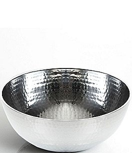 Image of Towle Silversmiths Hammered Medium Serving Bowl