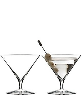 Image of Waterford Elegance Series Crystal Martini Glass Pair
