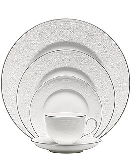 Image of Wedgwood English Lace Bone China 5-Piece Place Setting