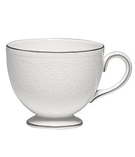 Image of Wedgwood English Lace Platinum Bone China Teacup