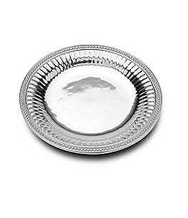 Image of Wilton Armetale Flutes & Pearls Round Serving Tray