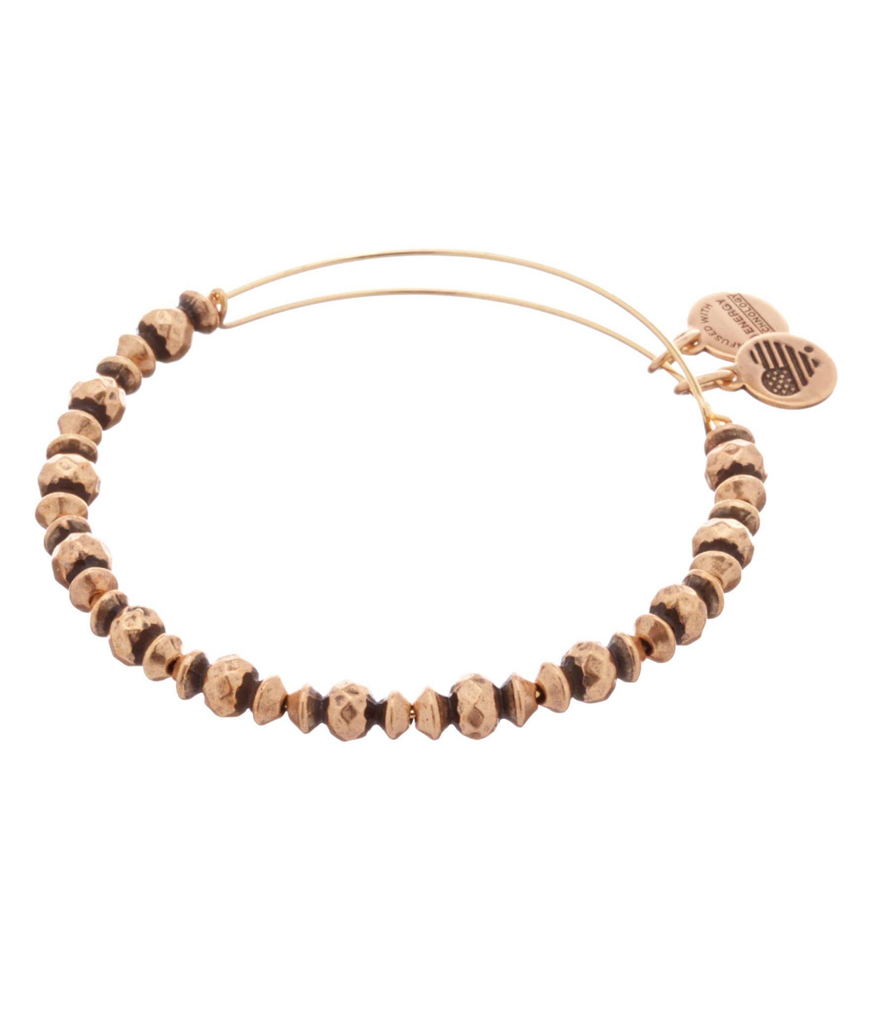 About Alex and Ani. Alex and Ani is a company specializing in beautiful, handcrafted gifts and jewelry pieces that are durable and high-quality enough to pass on from generation to generation.