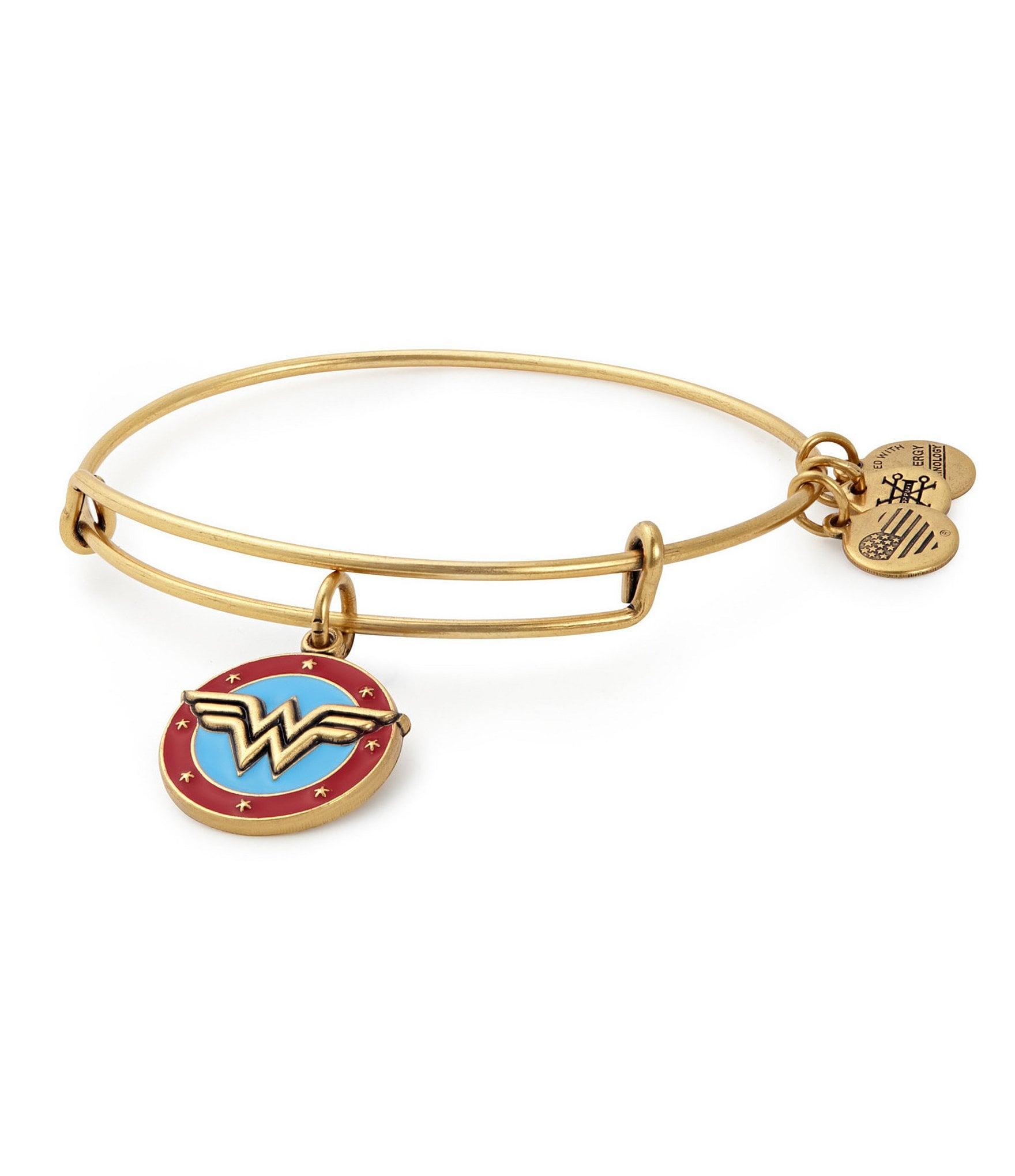 Alex and Ani Wonder Woman Logo Charm Bangle Bracelet