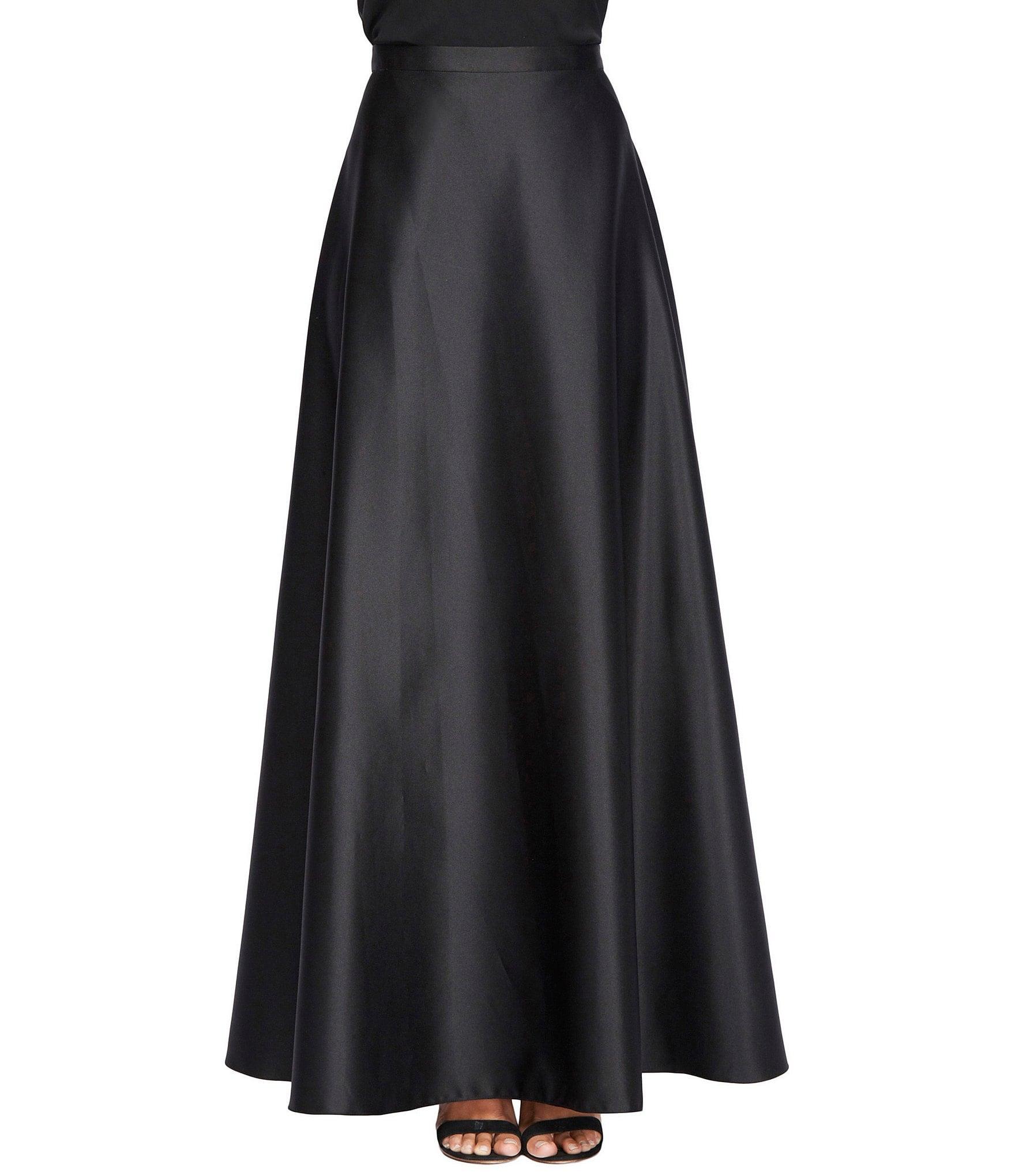 alex evenings satin skirt dillards