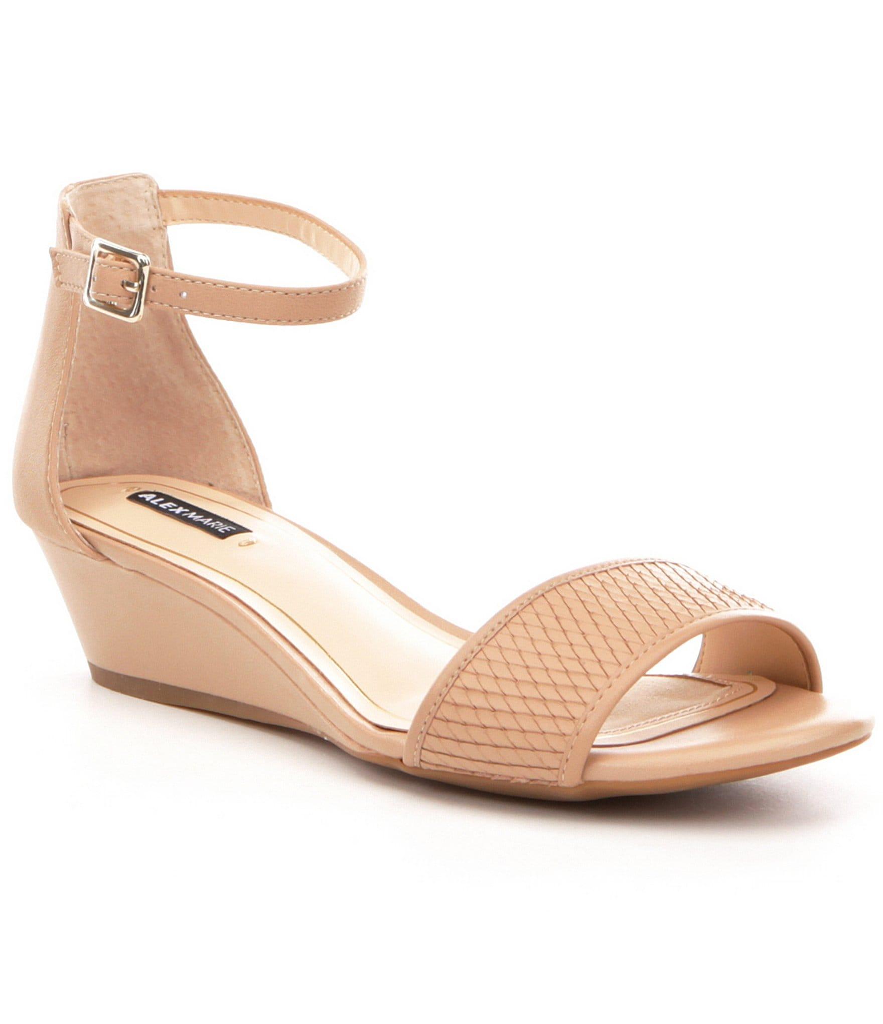 Alex Marie Mairi Leather Wedge Sandals Dillards