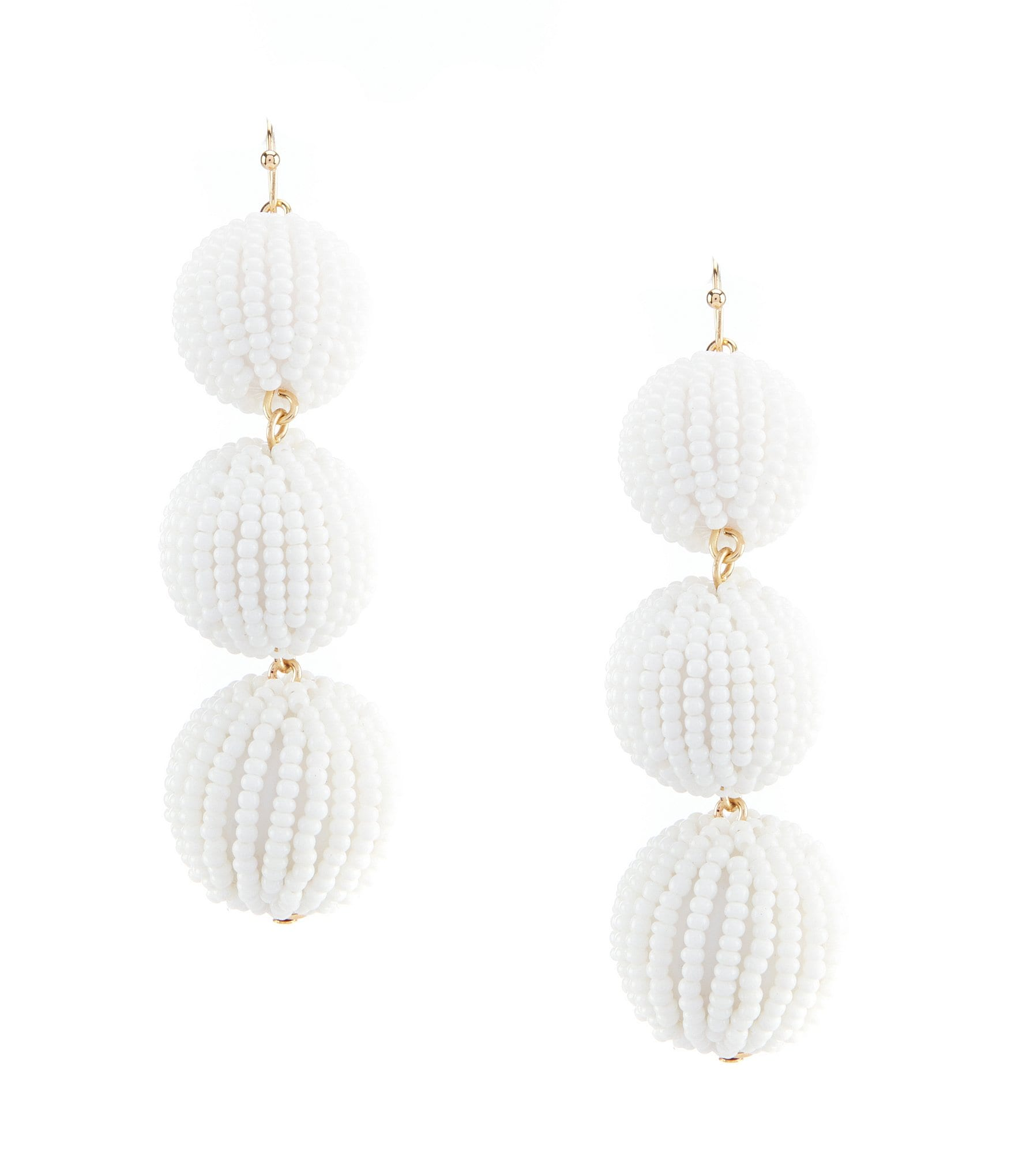 beaded beads en white boutique tassel earrings happiness