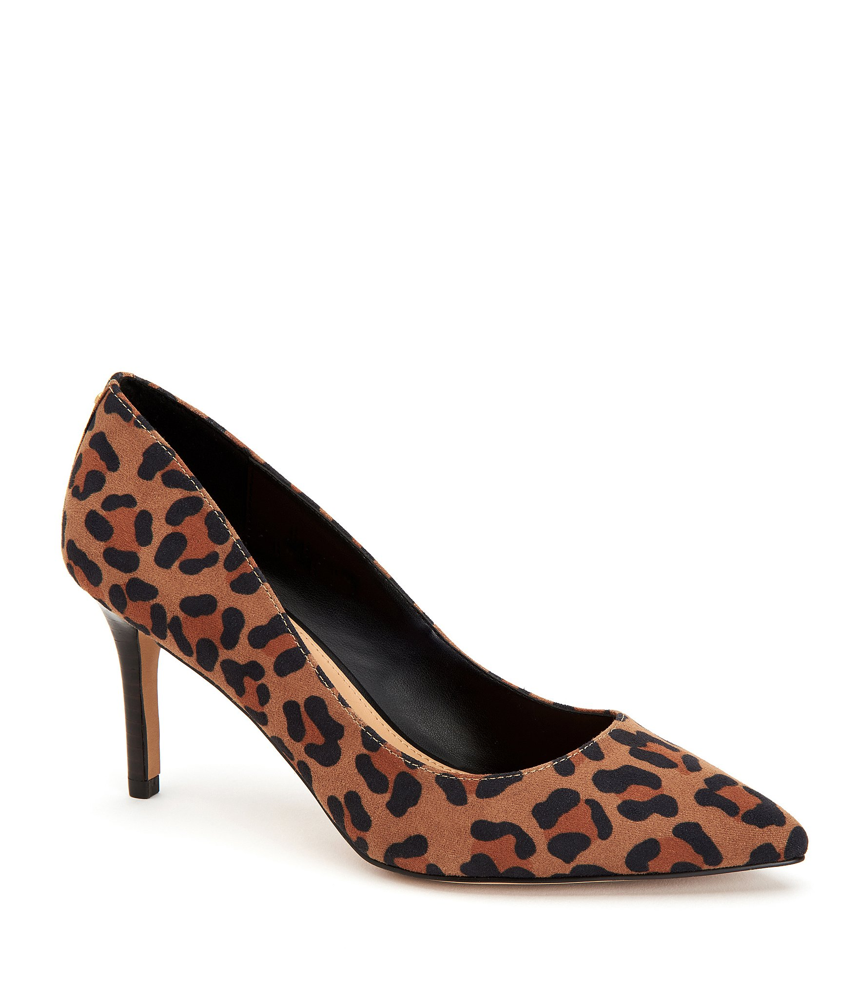 Prince Satin Leopard Print Bow Pumps