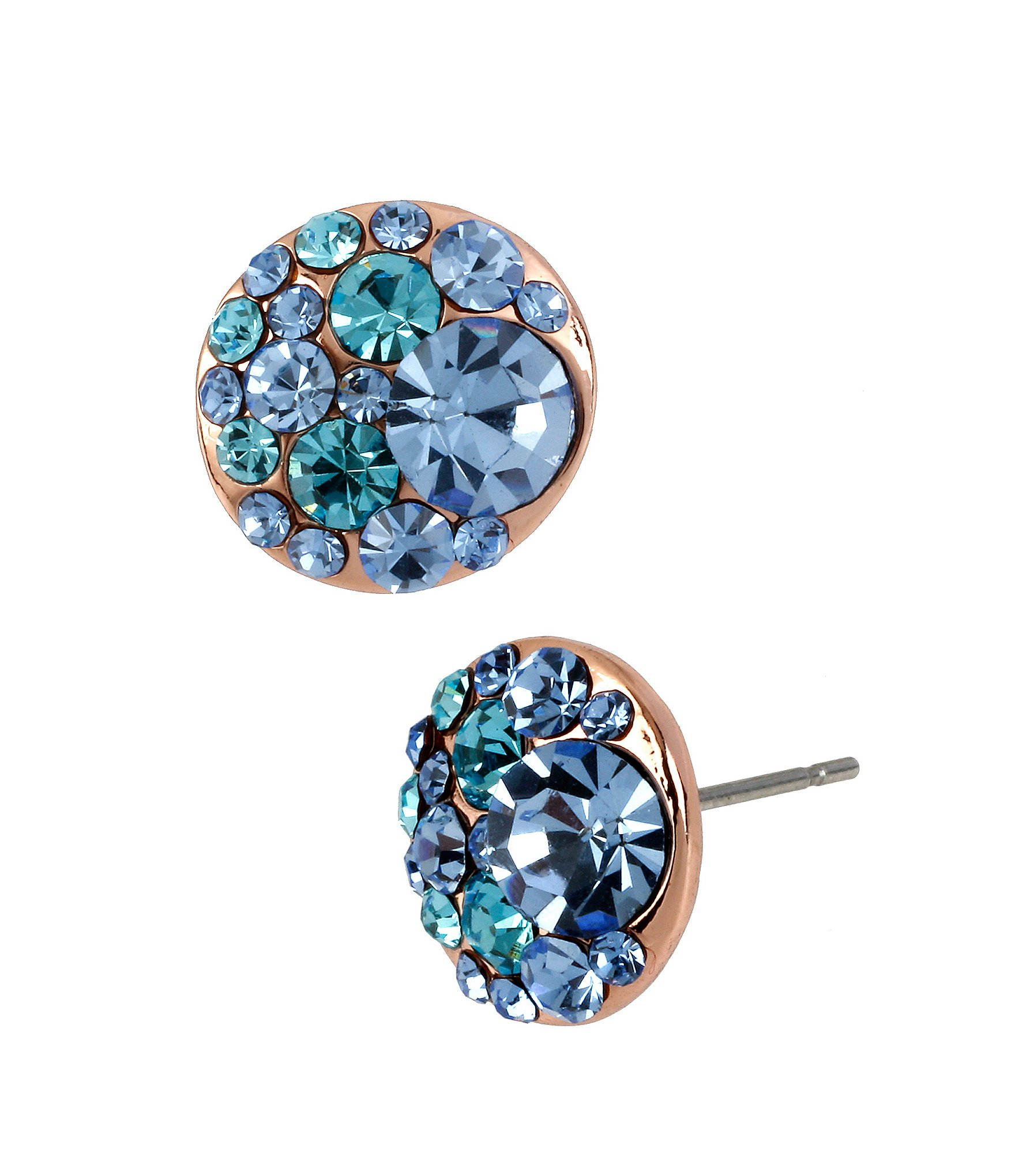 gemstone blue earrings drop white gold sapphire graduated in