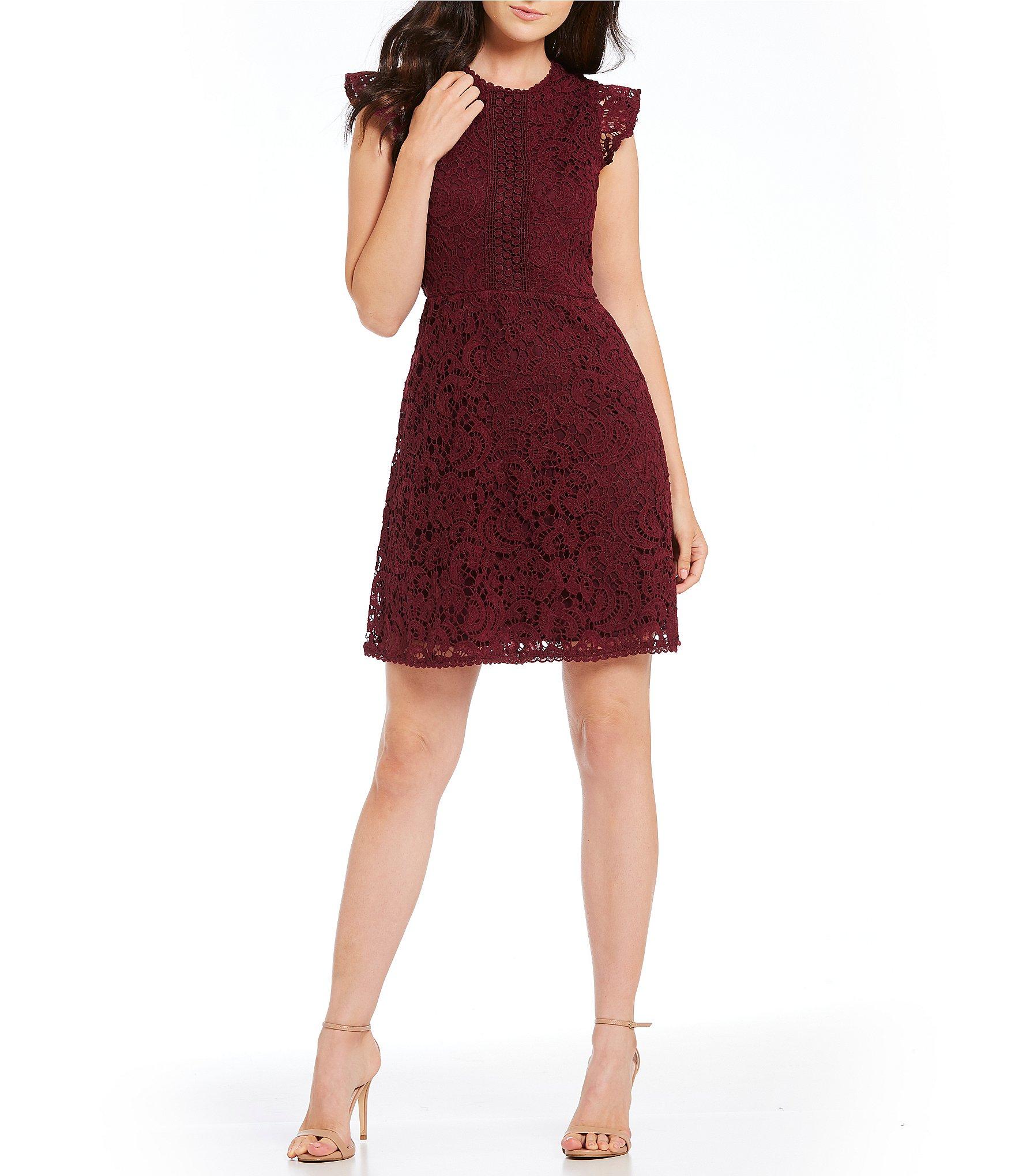B darlin juniors dress short-sleeve lace sequin maxi
