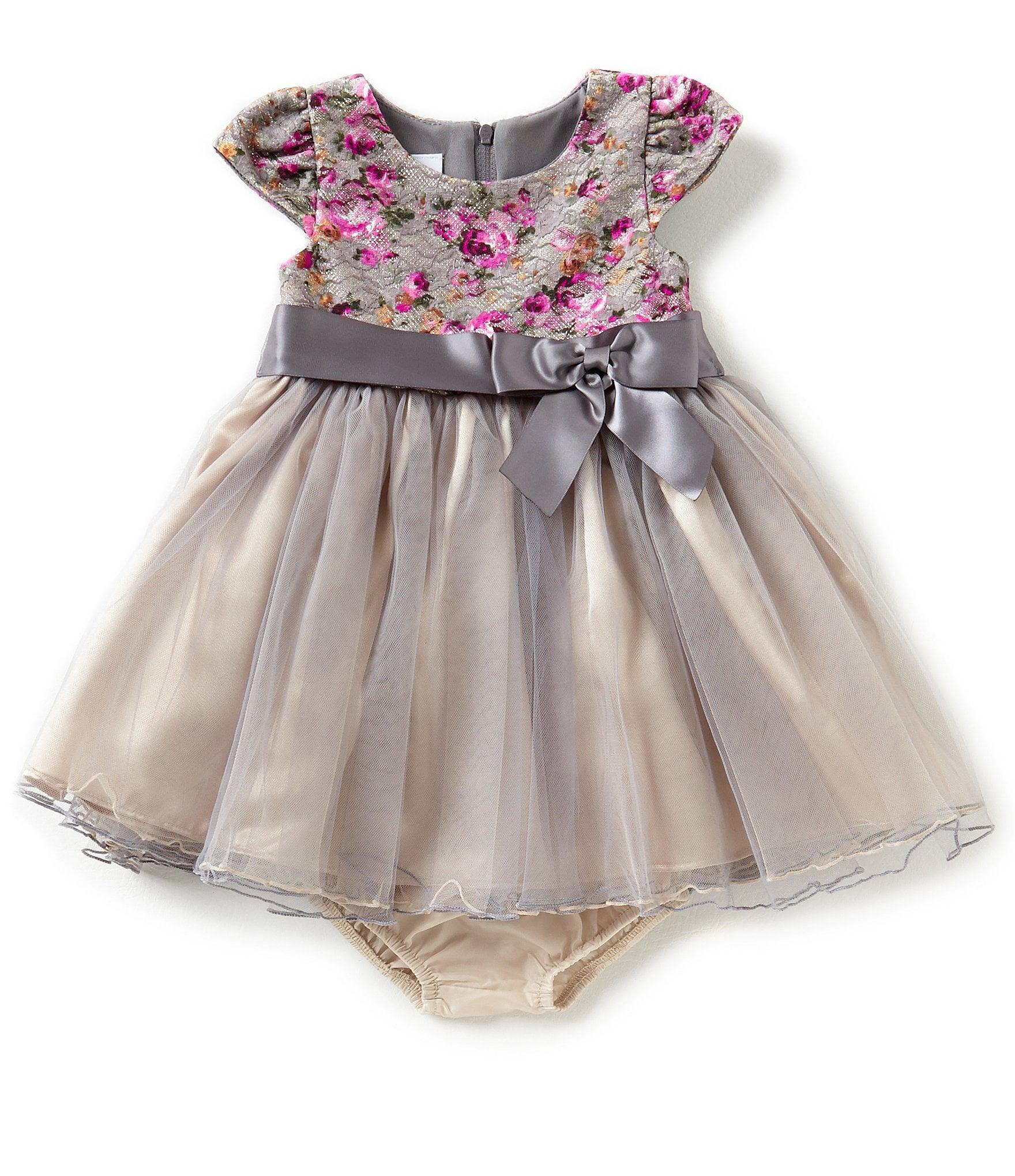 Bonnie Jean Baby Girls Newborn-24 Months Floral Lace ...