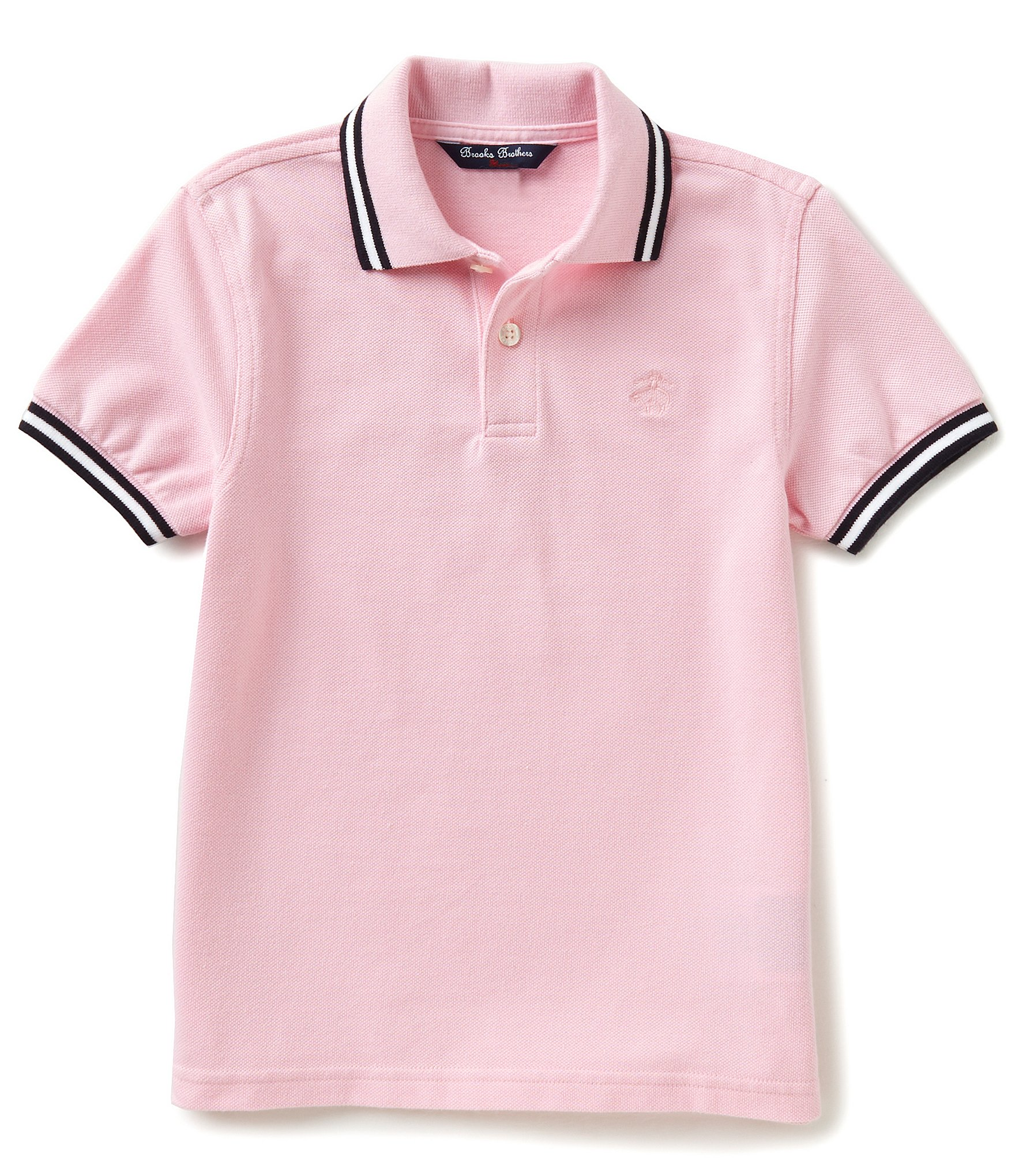 Brooks brothers little big boys 4 20 solid pique short for Brooks brothers boys shirts