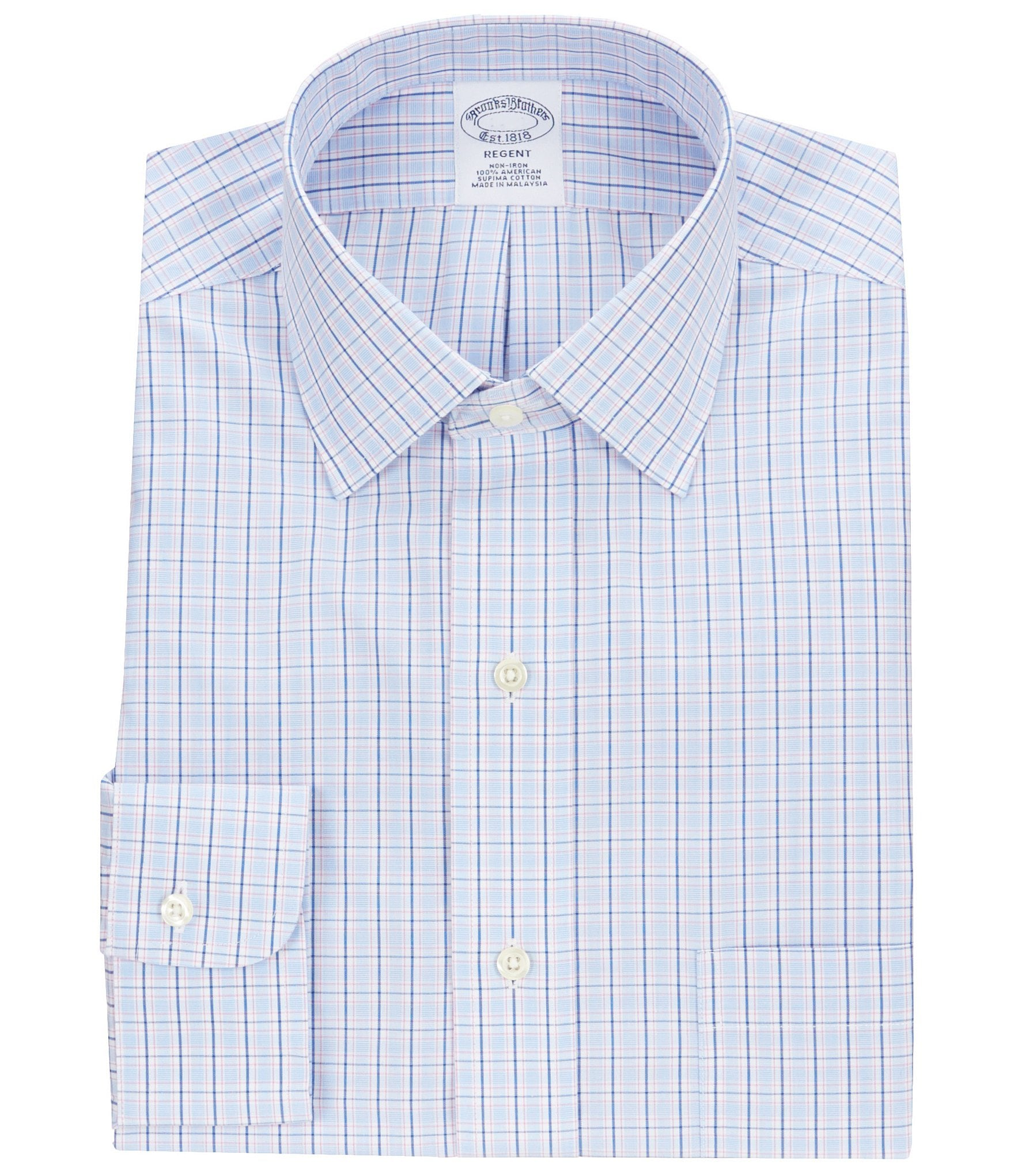 Brooks brothers non iron regent fit fitted classic fit for Brooks brothers non iron shirt review