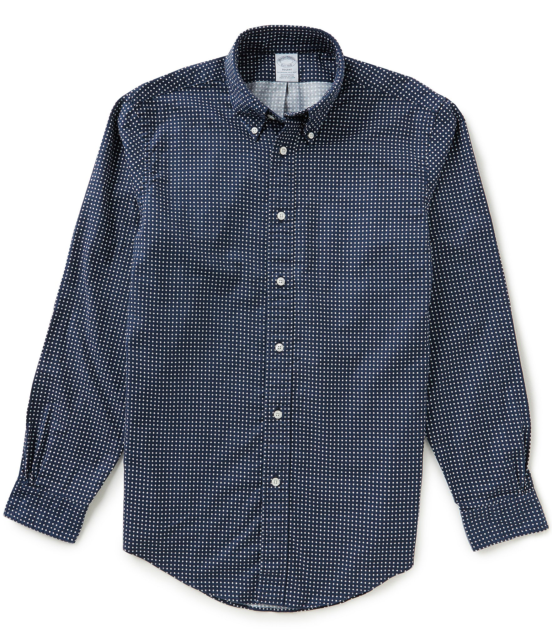 Brooks brothers non iron regent fit printed oxford long for Brooks brothers non iron shirt review