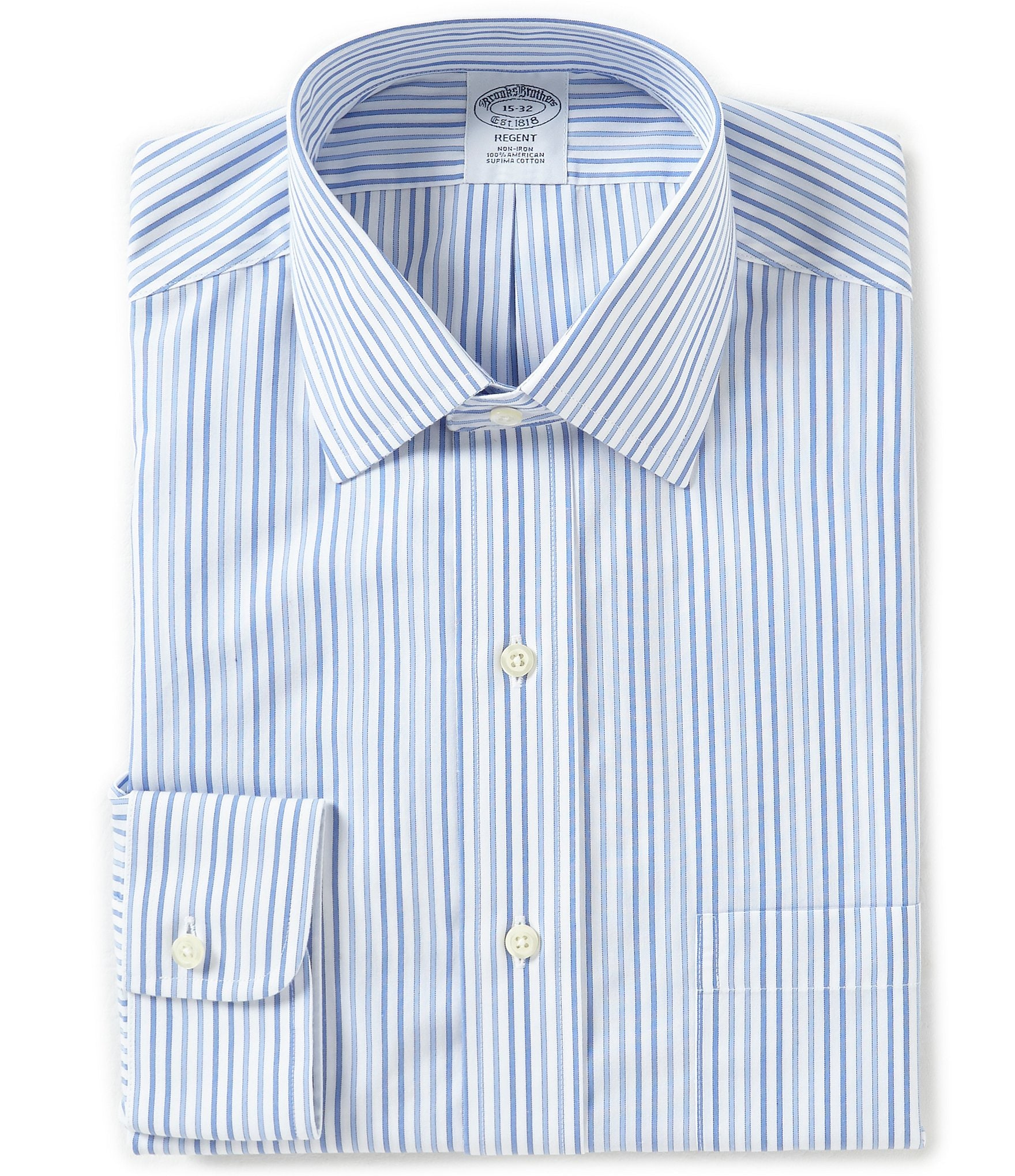 Brooks brothers non iron regent fitted classic fit spread for Brooks brothers non iron shirt review