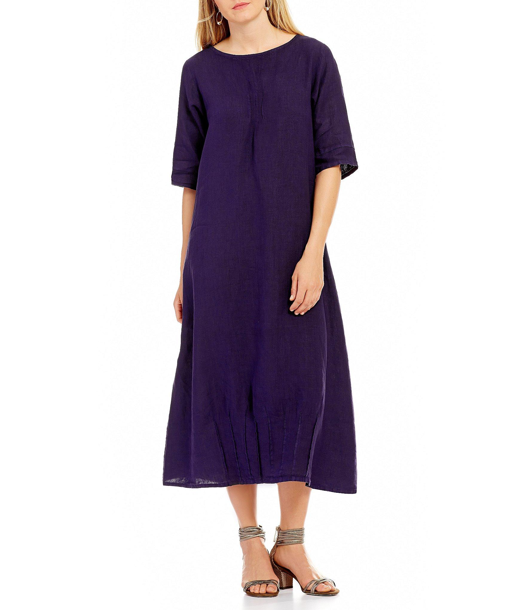 Bryn Walker Light Linen Pintuck Dress