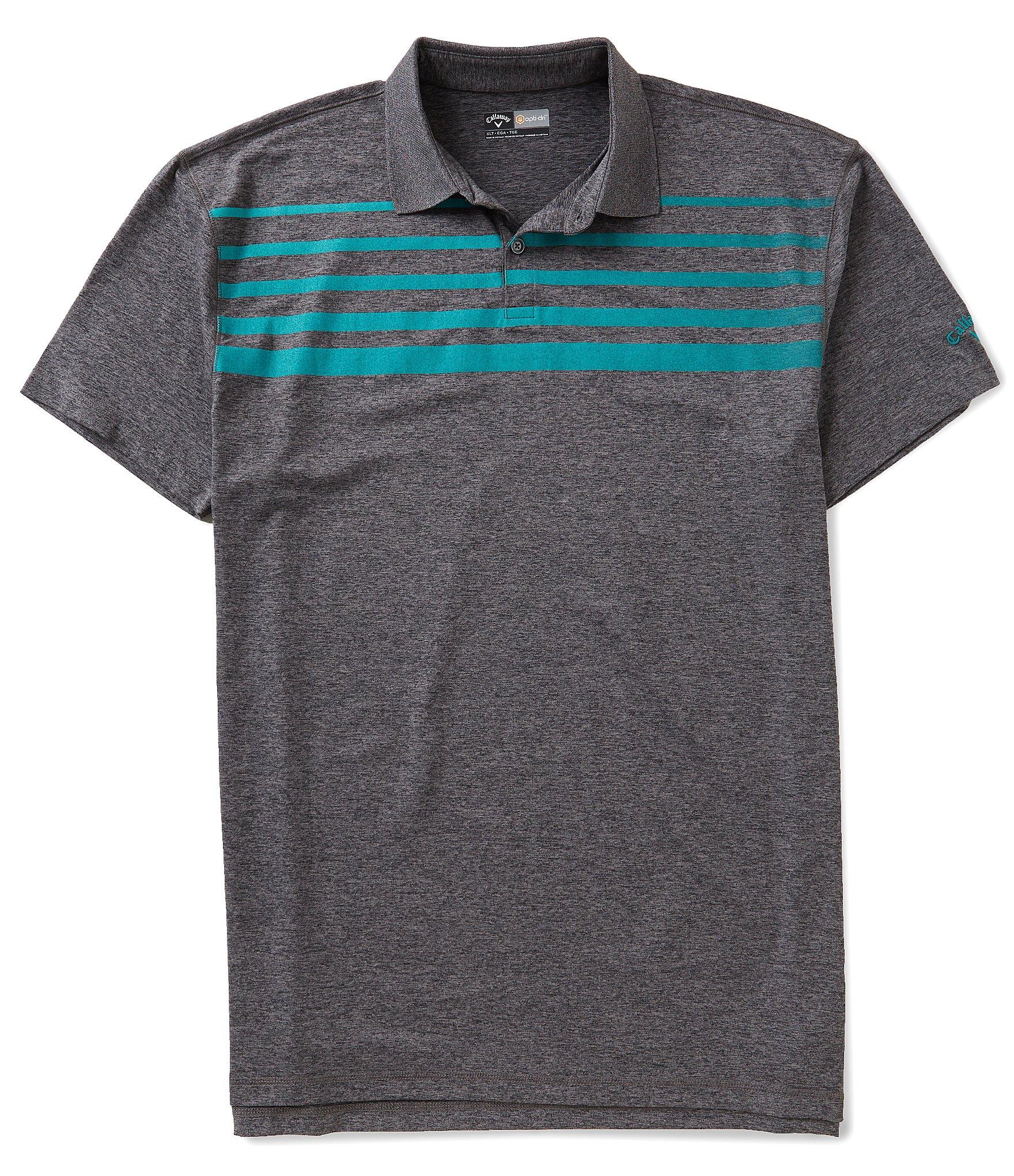 Callaway golf big tall faded stripe polo shirt dillards for Large tall golf shirts