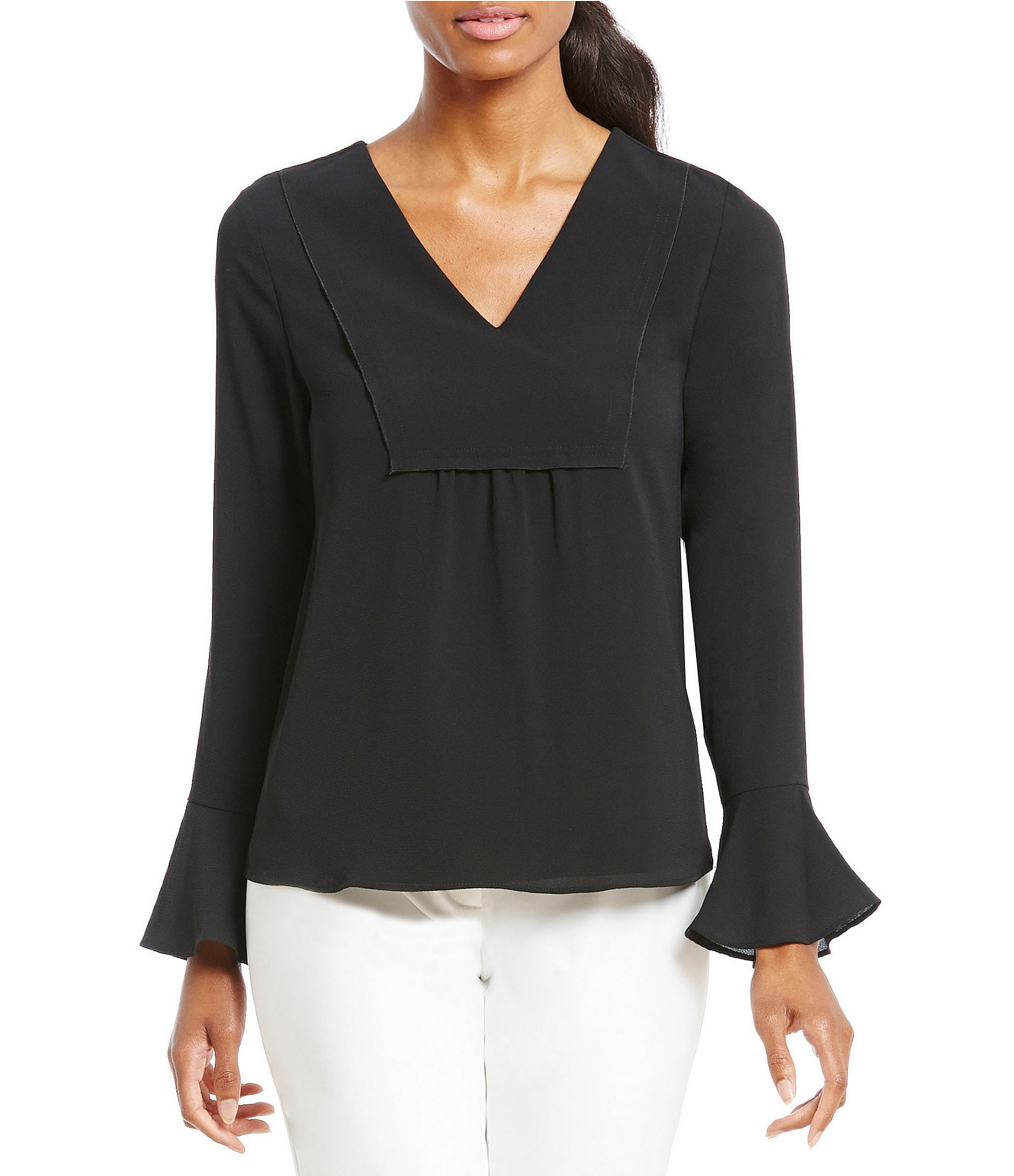 40 Off Emma Rose Tops Over The Shoulder Long Sleeve Blouse From -