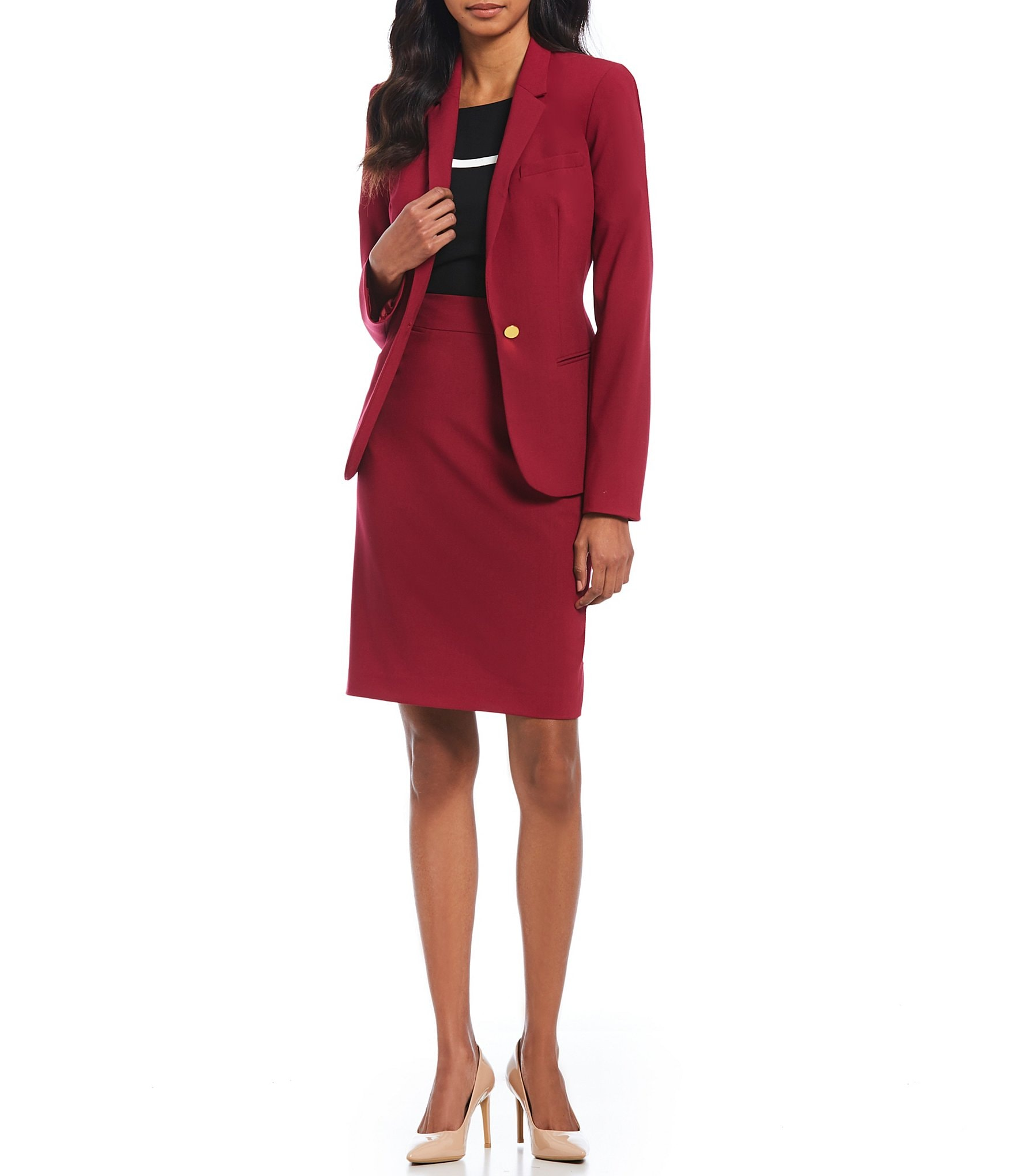Red Jacket Women S Workwear Suits Office Attire Dillards Com