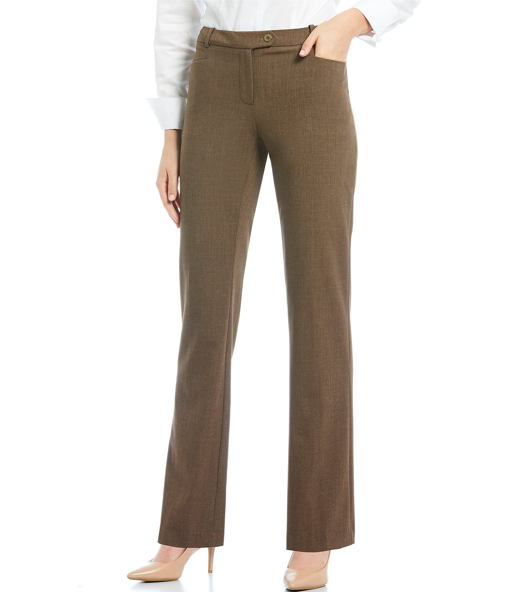 Fitted Textured Wool Trousers Calvin Klein 4PJ4GN