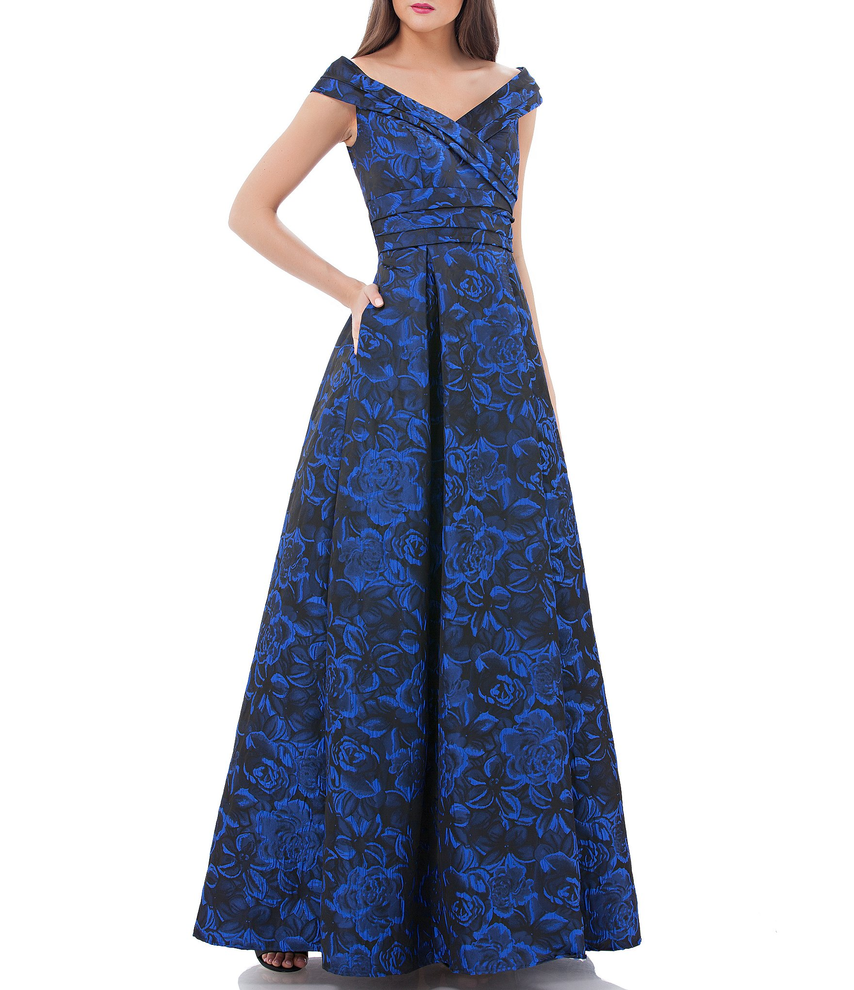 Carmen Marc Valvo Women\'s Cap-Sleeve Formal Dresses & Gowns | Dillards