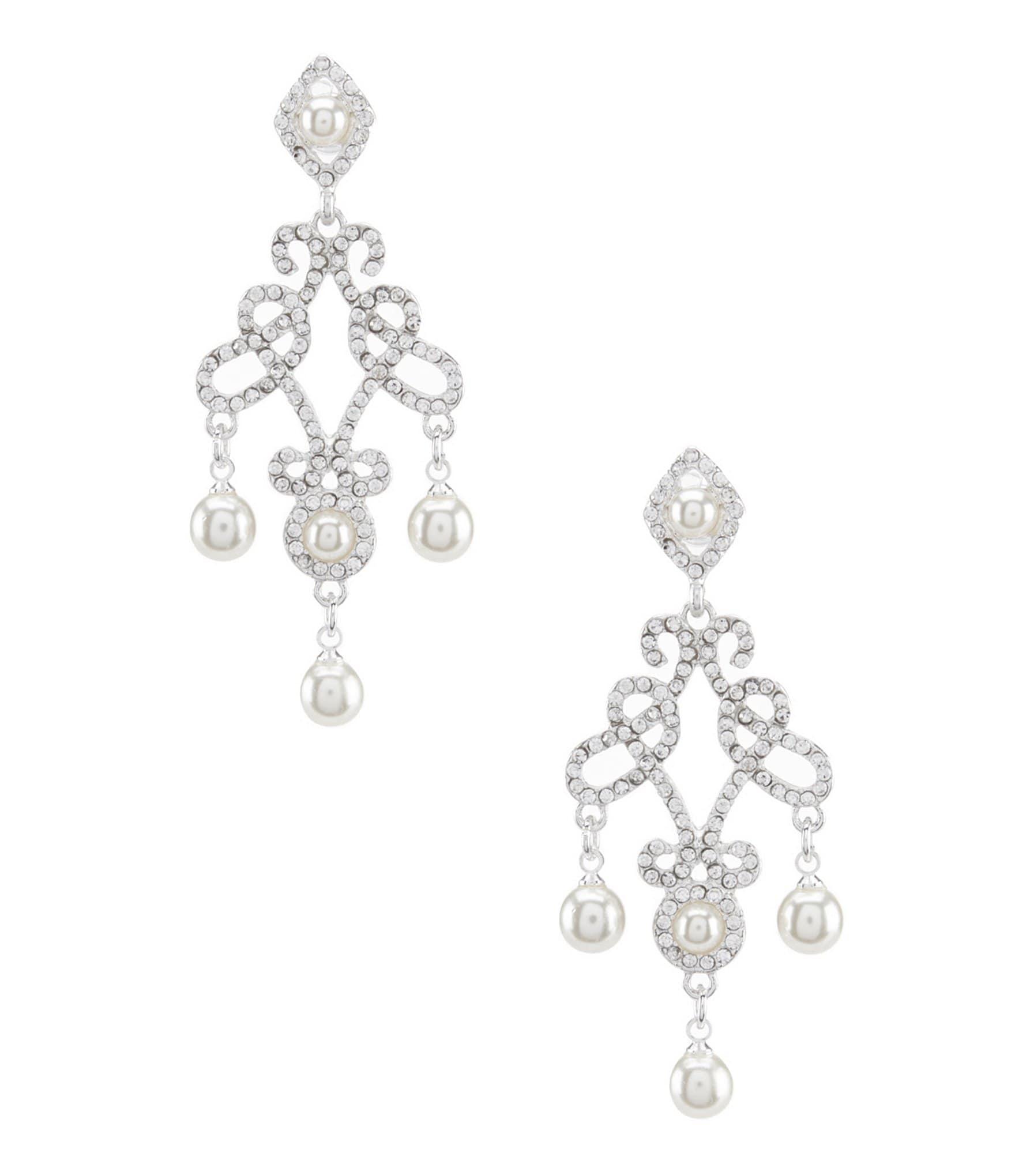 Womens pearl earrings dillards arubaitofo Gallery