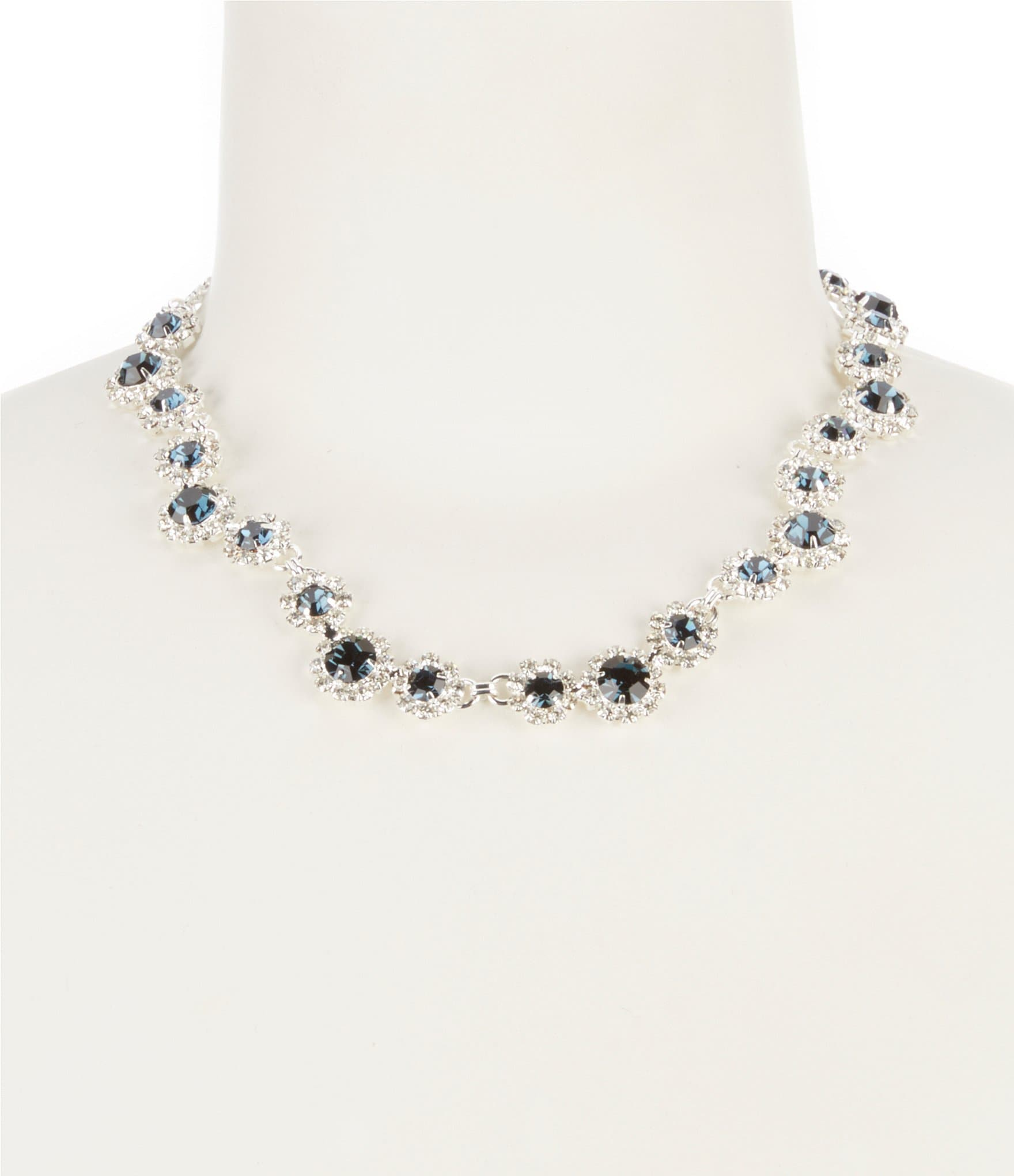 products blue borealis aurora rhinestone necklace vintage with earrings