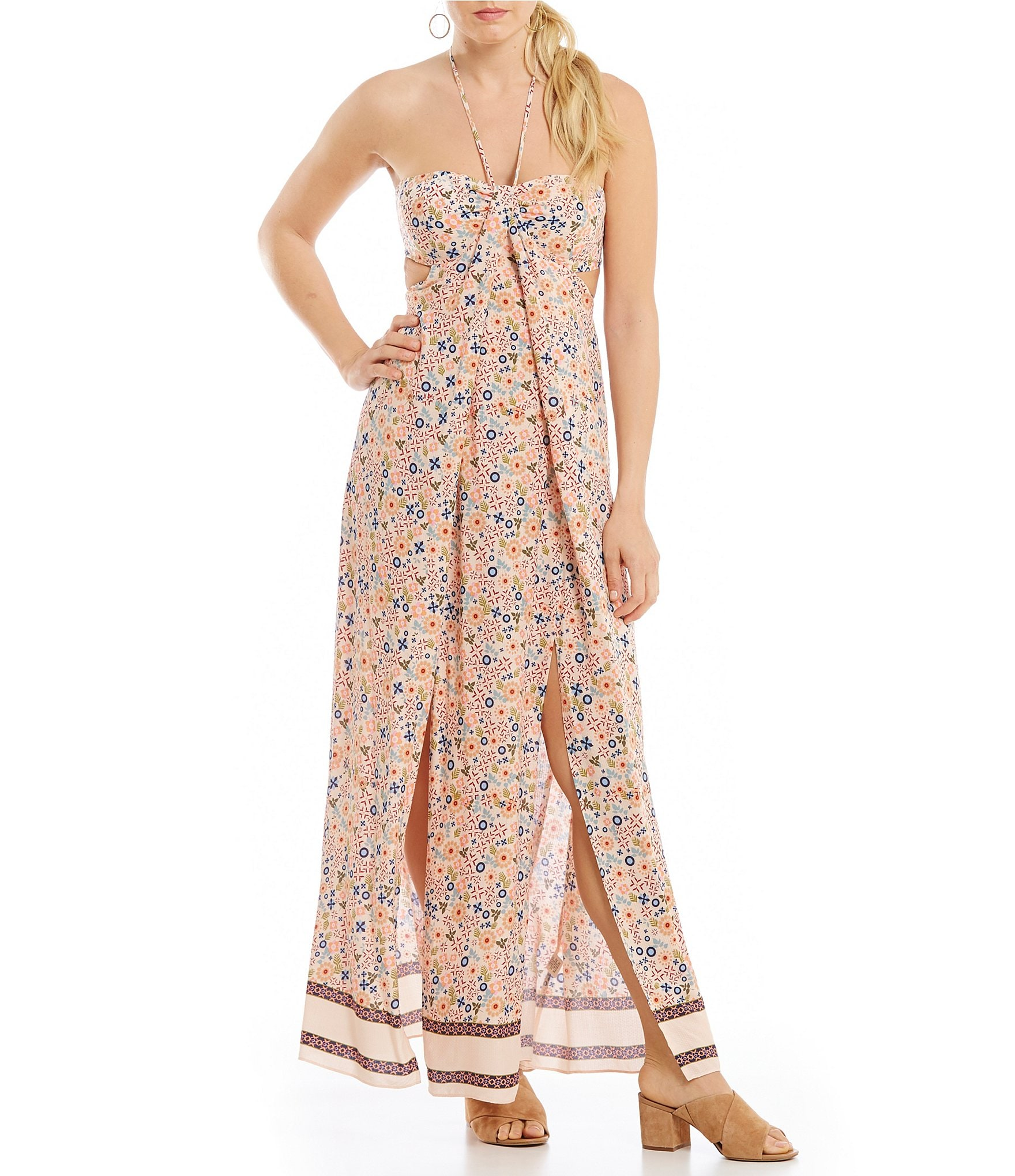 Gypsy 05 isla top overlay maxi dress in turquoise