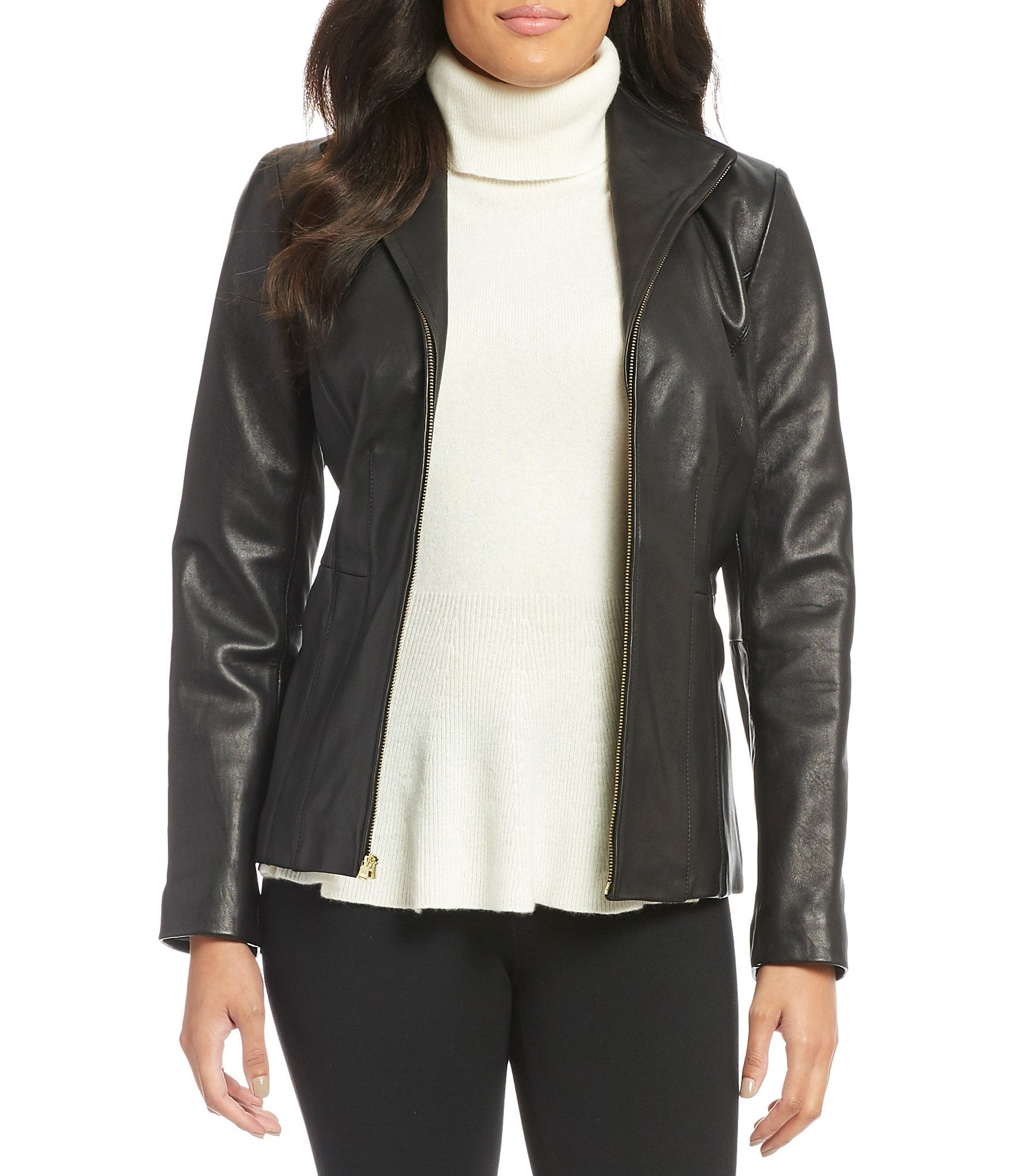Womens Leather Faux Leather Coats Dillards