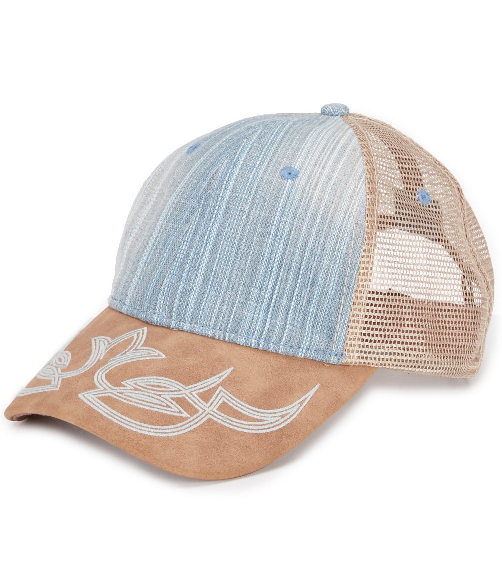 cremieux embrodiery visor trucker hat dillards