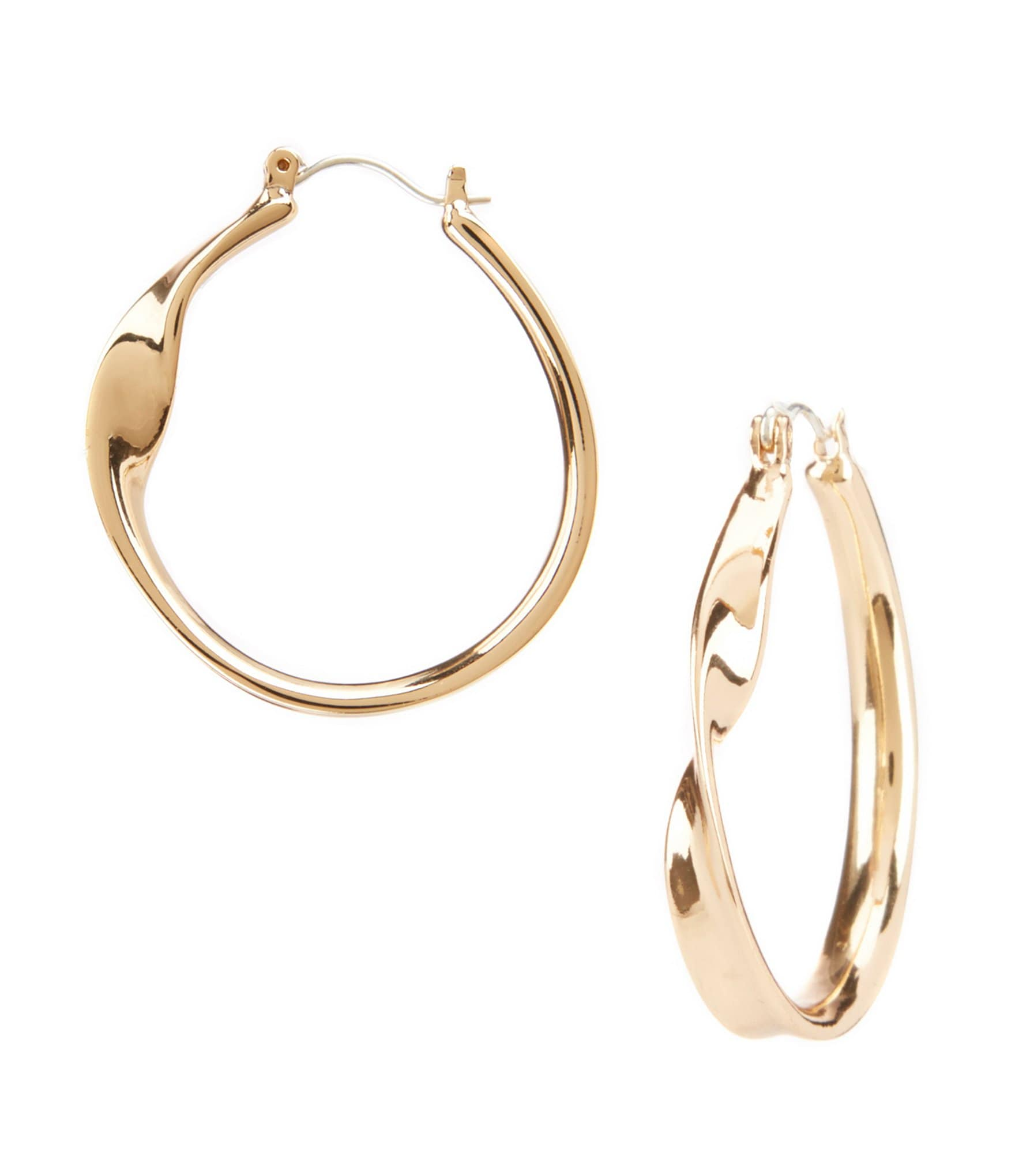 dillard 180 s tailored twisted hoop earrings dillards