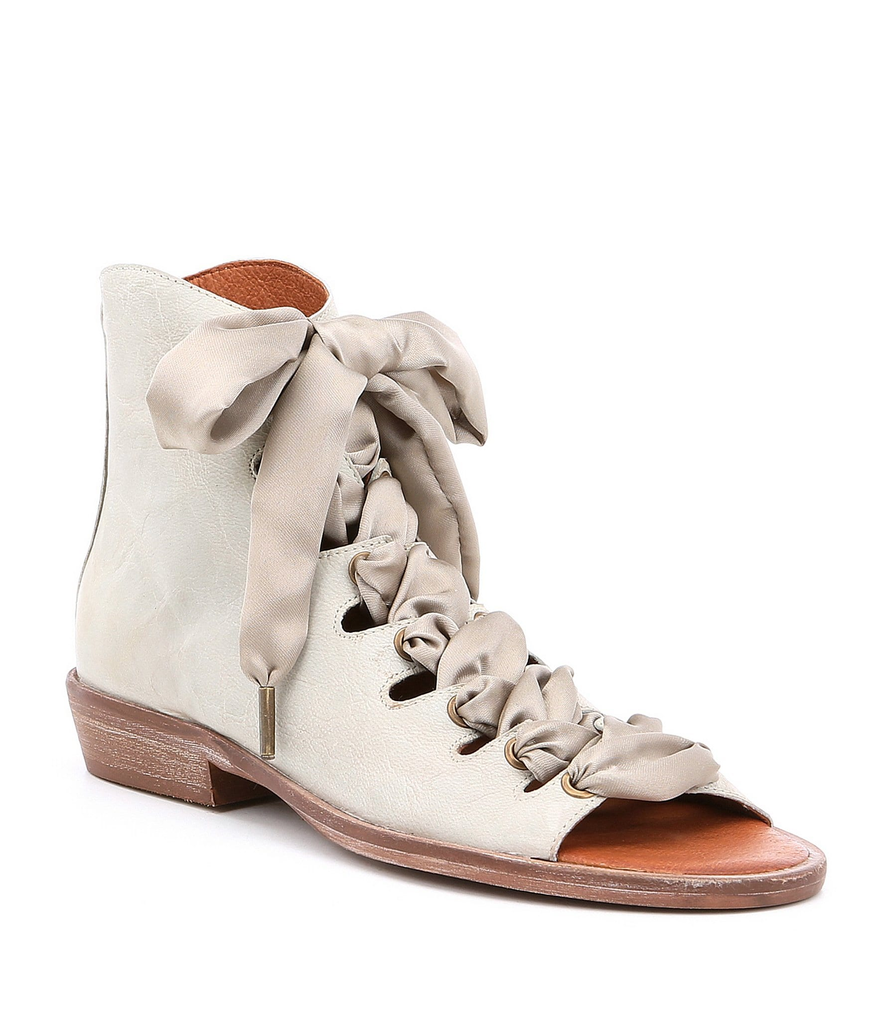 Palms Lace Up Gladiator Block Heel Sandals tuW6OV