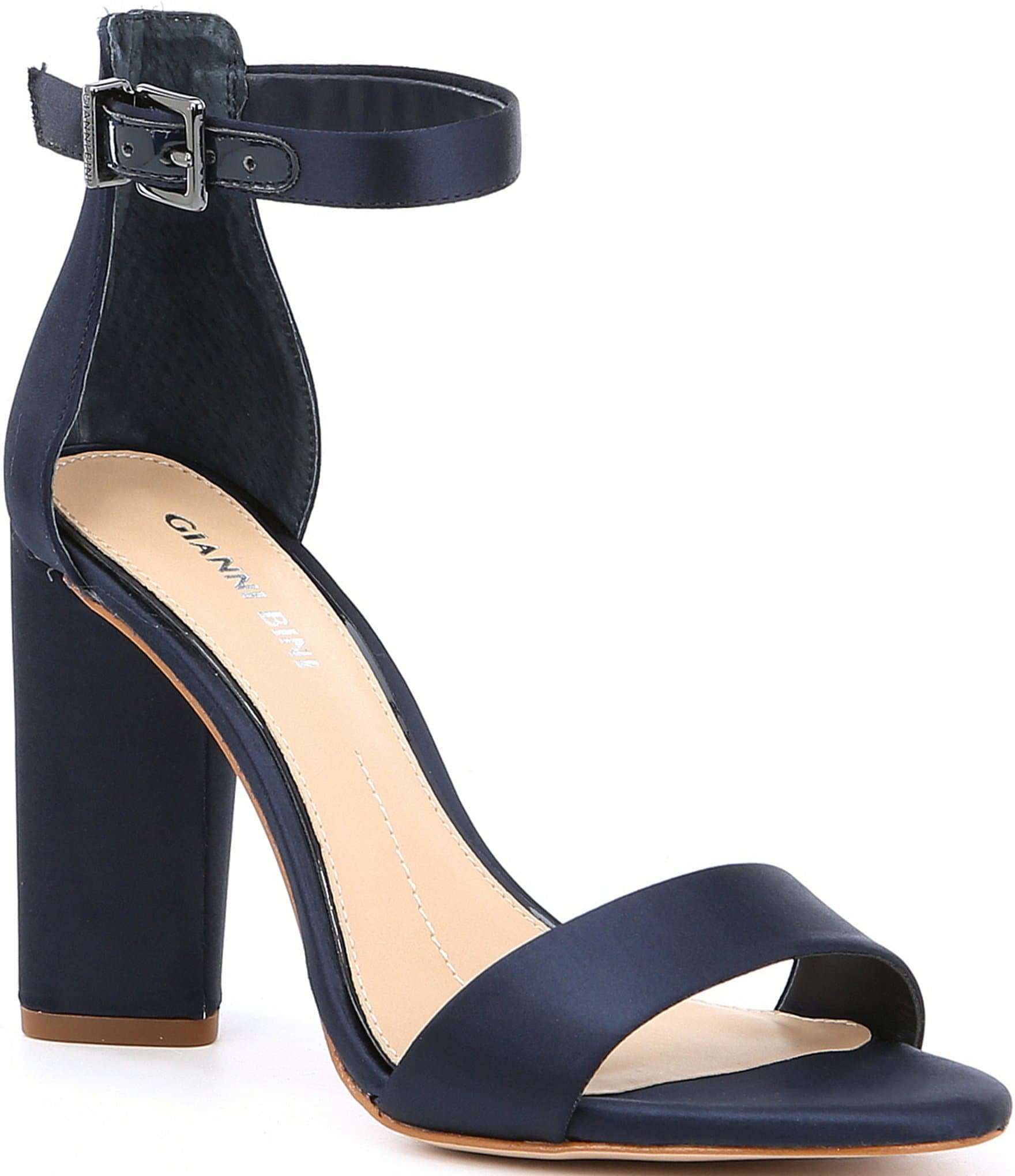 Ines Suede 2-Piece Ankle Strap Block Heel Pumps v0g2aT